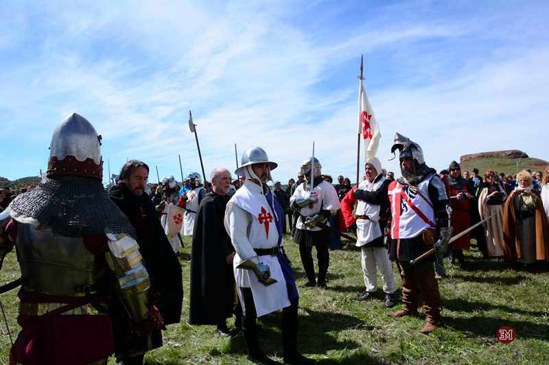 Las tropas de Pedro I llegan al campo de batalla