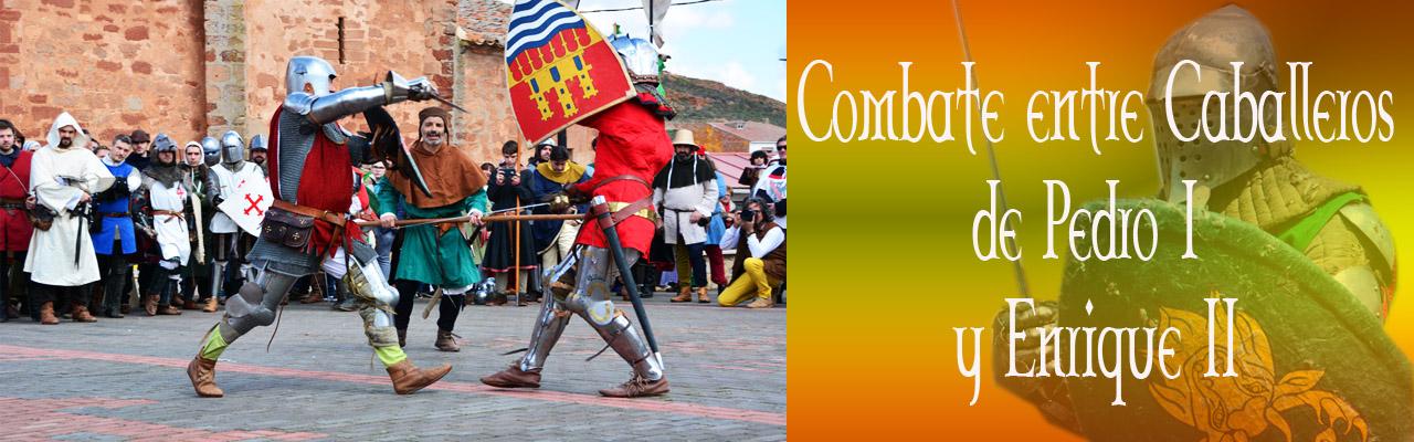 MontielMedieval 2018. Combate Entre Caballeros De Pedro I Y Enrique II
