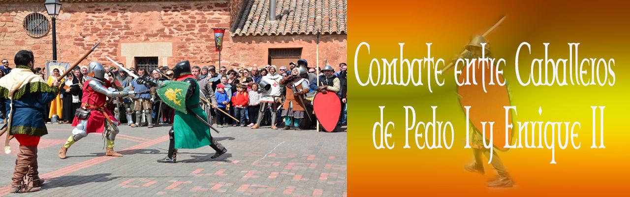 Montiel Meieval 2019. Combate Entre Caballeros De Pedro I Y Enrique II